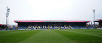 A general view of Spotland Stadium, home of Rochdale FC<br /> <br /> Photographer Hannah Fountain/CameraSport<br /> <br /> The EFL Sky Bet League One - Rochdale v Fleetwood Town - Saturday 19 January 2019 - Spotland Stadium - Rochdale<br /> <br /> World Copyright © 2019 CameraSport. All rights reserved. 43 Linden Ave. Countesthorpe. Leicester. England. LE8 5PG - Tel: +44 (0) 116 277 4147 - admin@camerasport.com - www.camerasport.com