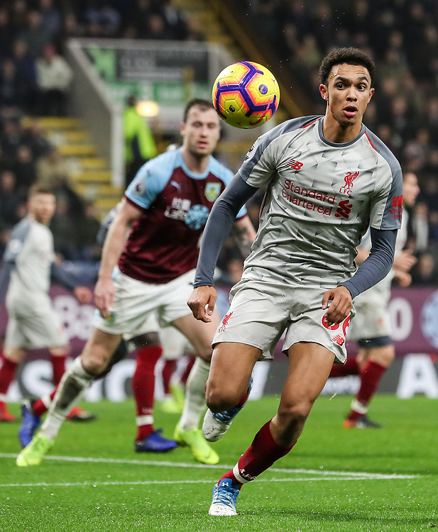 Liverpool's  Trent Alexander-Arnold <br /> <br /> Photographer Andrew Kearns/CameraSport<br /> <br /> The Premier League - Burnley v Liverpool - Wednesday 5th December 2018 - Turf Moor - Burnley<br /> <br /> World Copyright &copy; 2018 CameraSport. All rights reserved. 43 Linden Ave. Countesthorpe. Leicester. England. LE8 5PG - Tel: +44 (0) 116 277 4147 - admin@camerasport.com - www.camerasport.com