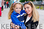 Mevaeh-Sky Carey with her mom Ann Marie Murphy at her first day in CBS NS Tralee on Monday.
