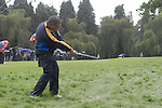 Ryder Cup 206 K Club, Straffan, Ireland..European Ryder Cup team player Darren Clarke plays out of the rough on the 16th hole during the morning fourballs session of the second day of the 2006 Ryder Cup at the K Club in Straffan, Co Kildare, in the Republic of Ireland, 23 September 2006...Photo: Eoin Clarke/ Newsfile.