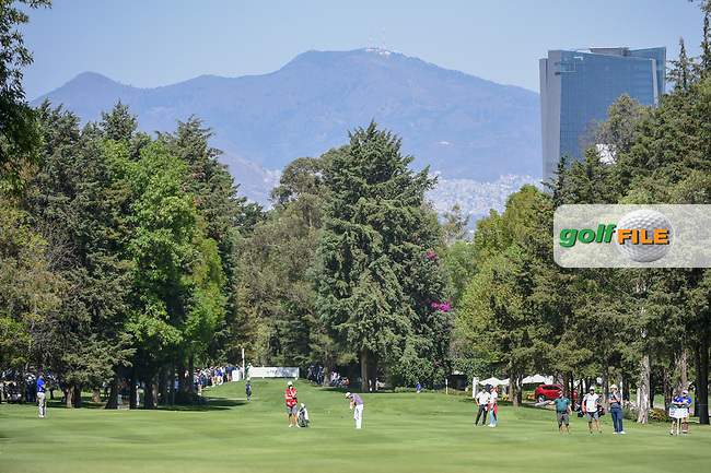 Rickie Fowler (USA) hits his second shot on 6 during round 1 of the World Golf Championships, Mexico, Club De Golf Chapultepec, Mexico City, Mexico. 2/21/2019.<br /> Picture: Golffile | Ken Murray<br /> <br /> <br /> All photo usage must carry mandatory copyright credit (© Golffile | Ken Murray)