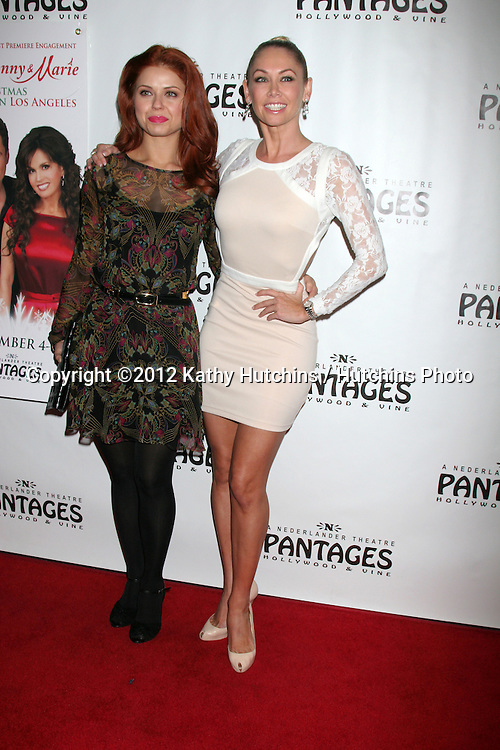 """LOS ANGELES - DEC 4:  Anna Trebunskaya, Kym Johnson arrives to """"Donny & Marie - Christmas in Los Angeles"""" Opening Night at Pantages Theater on December 4, 2012 in Los Angeles, CA"""