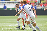 Portland, OR - Saturday August 12, 2017: George Acosta during friendly match between the USMNT U17's and Chile u17's at Providence Park in Portland, OR.