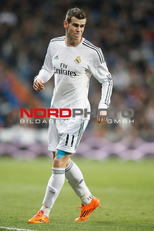 Real Madrid¬¥s Gareth Bale during a Spain King Cup soccer match between Real Madrid and Osasuna at Santiago Bernabeu Stadium in Madrid, Spain. January 09, 2014. Foto © nph / Caro Marin)