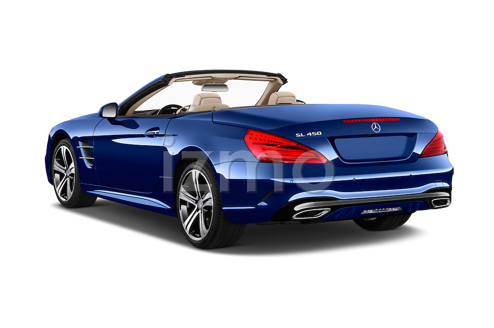 Car pictures of rear three quarter view of 2017 Mercedes Benz SL-Class SL450 2 Door Convertible Angular Rear