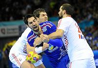 Nikola Karabatic during the match against Croatia