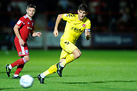 Ched Evans of Fleetwood Town during the The Leasing.com Trophy match between Accrington Stanley and Fleetwood Town at the Fraser Eagle Stadium, Accrington, England on 3 September 2019. Photo by Greig Bertram / PRiME Media Images.