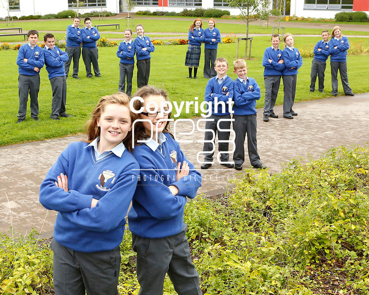 27/08/2014<br /> Eight sets of twins who completed their first day of secondary school in Colaiste Ide agus Iosef, Abbeyfeale, Co. Limerick.<br /> Wednesday. <br /> The eight sets are part of over 125 students who have enrolled in the community college.<br /> Pictured are: Noelle and Michelle Curtin, Micah and Ryan O'Connell, Jamie and Gearoid Browne, Orla and Maeve Quirke, Jack and David O'Conner, Caoimhe and Shona Hickey, Christopher and Chloe Lane and Luke and Holly Scannell.<br /> For further Information please contact Shane MacCurt&aacute;in PR and Communications&nbsp;<br /> Colaiste Ide agus Iosef<br /> Abbeyfeale<br /> 068-30631<br /> 086-8122221<br /> www.abbeyfealecollege.ie <br /> Picture: Don Moloney / Press 22