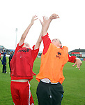 Adam O'Connor and Dean Fitzpatrick who won the chance to be Ball Boys for the day...Photo NEWSFILE/Jenny Matthews.(Photo credit should read Jenny Matthews/NEWSFILE)....This Picture has been sent you under the condtions enclosed by:.Newsfile Ltd..The Studio,.Millmount Abbey,.Drogheda,.Co Meath..Ireland..Tel: +353(0)41-9871240.Fax: +353(0)41-9871260.GSM: +353(0)86-2500958.email: pictures@newsfile.ie.www.newsfile.ie.FTP: 193.120.102.198.