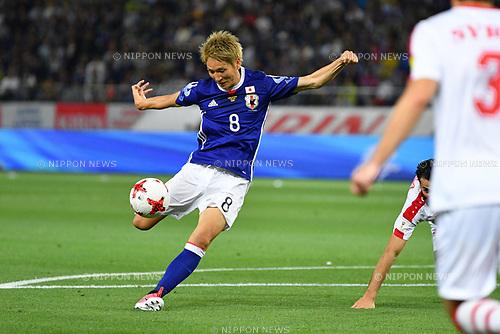 Genki Haraguchi (JPN), <br /> JUNE 7, 2017 - Football / Soccer : <br /> KIRIN Challenge Cup 2017 match <br /> between Japan 1-1 Syria <br /> at Ajinomoto Stadium in Tokyo, Japan. <br /> (Photo by AFLO)