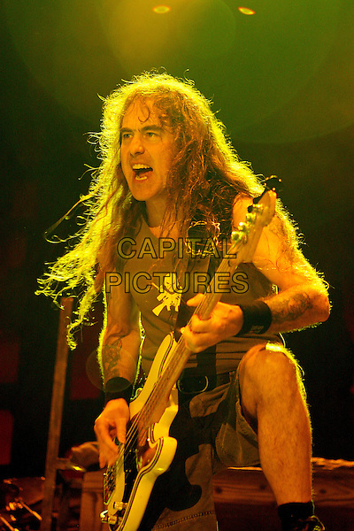 IRON MAIDEN - STEVE HARRIS.Live at the Dubai Desert Rock Festival, Dubai, United Arab Emirates..March 9th, 2007.stage concert gig performance music half length black bass guitar .CAP/MAR.© Martin Harris/Capital Pictures.