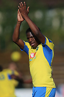Anthony McDonald of Haringey applauds the fans at the final whistle during Haringey Borough vs Herne Bay, Emirates FA Cup Football at Coles Park Stadium on 7th September 2019