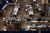Media inside convention center in Charlotte during DNC on September 3rd 2012.