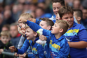 30th September 2017, Cardiff City Stadium, Cardiff, Wales; EFL Championship football, Cardiff City versus Derby County; Local youth football team enjoy the game