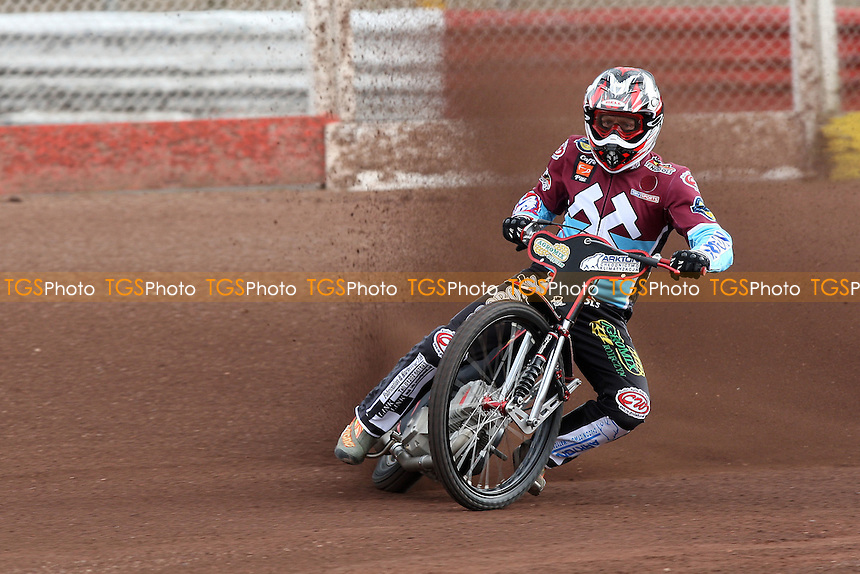 Adam Shields rides for Lakeside Hammers during pre-season speedway practice at Arena Essex Raceway - 10/03/09 - MANDATORY CREDIT: Gavin Ellis/TGSPHOTO - Self billing applies where appropriate - 0845 094 6026 - contact@tgsphoto.co.uk - NO UNPAID USE.