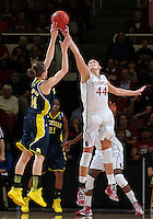 STANFORD, CA - March 26, 2013: Stanford Cardinal's Joslyn Tinkle in a second round game of the 2013 NCAA Division I Championship  versus Michigan at Maples Pavilion in Stanford, California.  The Cardinal defeated the Wolverines 73-40.