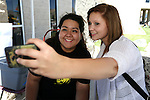 ASWN Sen. Jessica Hoyos poses for a photo with Tiffany Whitehead during a student BBQ and club fair at Western Nevada College in Carson City, Nev., on Thursday, Sept. 1, 2016. <br />Photo by Cathleen Allison