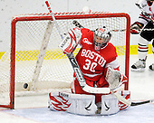 Alissa Fromkin (BU - 30) - The Northeastern University Huskies defeated the Boston University Terriers in a shootout after being tied at 4 following overtime in their Beanpot semi-final game on Tuesday, February 2, 2010 at the Bright Hockey Center in Cambridge, Massachusetts.