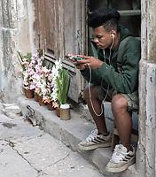 Music with flowers, La Habana Vieja