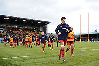 Donncha O'Callaghan of Worcester Warriors leads his team off the field prior to the match. Aviva Premiership match, between Saracens and Worcester Warriors on December 30, 2017 at Allianz Park in London, England. Photo by: Patrick Khachfe / JMP