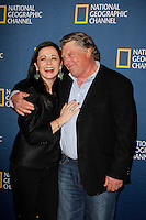 PASADENA - JAN 3: Graham Beckel, Geraldine Hughes of the show 'Killing Lincoln' at the National Geographic Channels TCA party on January 3, 2013 at the Langham Hotel in Pasadena, California