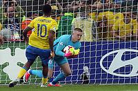 Jordan Pickford of England  saves a penalty from Linus Wahlqvist of Sweden during Sweden Under-21 vs England Under-21, UEFA European Under-21 Championship Football at The Kolporter Arena on 16th June 2017