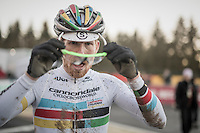 Stephen Hyde (USA/Cannondale) post-race<br /> <br /> 2016 CX Superprestige Spa-Francorchamps (BEL)