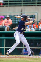 San Antonio Missions outfielder Travis Jankowski (6) at bat during the Texas League baseball game against the Midland RockHounds on June 28, 2015 at Nelson Wolff Stadium in San Antonio, Texas. The Missions defeated the RockHounds 7-2. (Andrew Woolley/Four Seam Images)