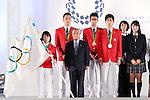 (L-R) <br /> Hiromi Miyake, <br /> Takeshi Matsuda, <br /> Yoshinobu Miyake, <br /> Hirooki Arai, <br /> Maharu Yoshimura, <br /> Mikako Kotani, <br /> Ayaka Mukae, <br /> SEPTEMBER 21, 2016 : <br /> Olympic and Paralympic flags raising ceremony <br /> in Tokyo, Japan.  <br /> (Photo by Yohei Osada/AFLO SPORT)