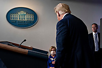United States President Donald J. Trump leaves after speaking during a news conference in the Brady Press Briefing Room of the White House in Washington, D.C., U.S., on Friday, May 22, 2020. Trump ordered states to allow churches to reopen from stay-at-home restrictions imposed to combat the coronavirus outbreak, saying he would override any governor who refuses. <br /> Credit: Andrew Harrer / Pool via CNP / MediaPunch