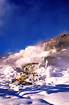 Wyoming: Yellowstone National Park.  Mammoth Hot Springs terrace in winter.  Photo #: wyyelw105..Photo copyright Lee Foster, www.fostertravel.com, 510/549-2202, lee@fostertravel.com