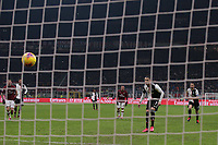 Cristiano Ronaldo of Juventus scores from the penalty spot to level the game at 1-1 during the Coppa Italia match at Giuseppe Meazza, Milan. Picture date: 13th February 2020. Picture credit should read: Jonathan Moscrop/Sportimage PUBLICATIONxNOTxINxUK SPI-0487-0014<br /> Ac Milan Vs Juventus Coppa Italia <br /> Photo Jonathan Moscrop/Sportimage/Imago Insidefoto <br /> ITALY ONLY