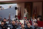 King Felipe VI of Spain during the Spanish National Day military parade in Madrid, Spain. October 12, 2018. (ALTERPHOTOS/A. Perez Meca)