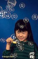 BH22-001x  Bubbles - girl making bubbles