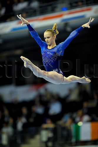 6.4.11 European Gymnastics Championships Berlin. Womens Qualifications. Anna Demetyeva in action for Russia....