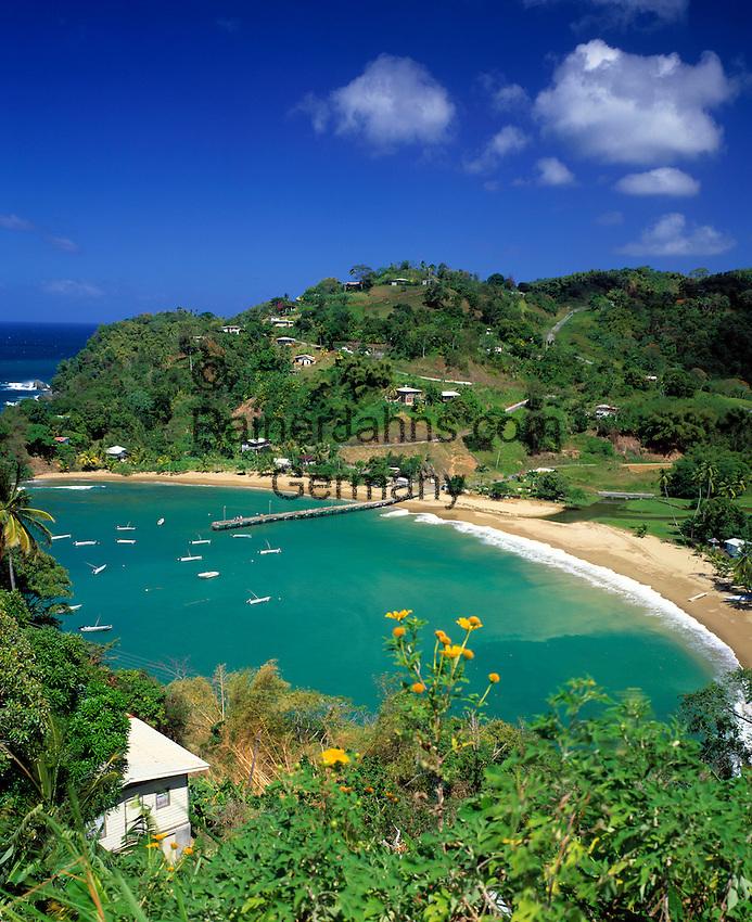 Trinidad & Tobago, Commonwealth, Tobago, Parlatuvier Bay: fishing village and quiet beach