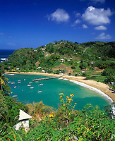 Trinidad & Tobago, Commonwealth, Tobago, Parlatuvier Bay: fishing village and quiet beach
