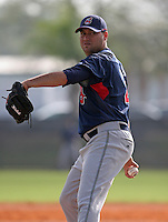 Cleveland Indians minor leaguer Edward Mujica during Spring Training at the Chain of Lakes Complex on March 16, 2007 in Winter Haven, Florida.  (Mike Janes/Four Seam Images)
