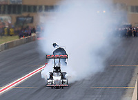 Jul 20, 2019; Morrison, CO, USA; NHRA top fuel driver Steve Torrence during qualifying for the Mile High Nationals at Bandimere Speedway. Mandatory Credit: Mark J. Rebilas-USA TODAY Sports