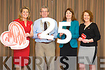 Ann Riordan, Regional Manager  Irish Heart Foundation , Mayor of Tralee Councillor Pat Hussey, Mary Reynolds, National Campaigns Manager for the Irish Heart Foundation, Bridget Sinnott, Resuscitation Expert for the Irish Heart Foundation, at the 25th Anniversary of the Happy Hearts Appeal in the Fels Point Hotel on Tuesday