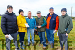 Gary Burke (Tralee), Gerry O'Connell (Abbeydorney), Batt Heaphy (Lixnaw), Trevor O'Connell (Abbeydorney), Christie O'Sullivan (Abbeydorney) and Alban Stack (Abbeydorney) at the Abbeydorney Coursing on Sunday.