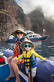 GALAPAGOS ISLANDS, ECUADOR, Isabela Island, Punta Vicente Roca, exploring the dramatic volcanic coastline off Isabela Island