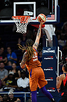 Washington, DC - July 30, 2019: Phoenix Mercury center Brittney Griner (42) goes up for a layup during game between the Phoenix Mercury and the Washington Mystics at the Entertainment & Sports Arena in Washington, DC. The Mystics defeated the Mercury 99-93. (Photo by Phil Peters/Media Images International)