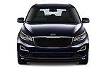 Car photography straight front view of a 2019 KIA Sedona EX 5 Door Minivan Front View