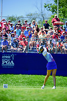 Michelle Wie (USA) watches her tee shot on 1 during Sunday's final round of the 2017 KPMG Women's PGA Championship, at Olympia Fields Country Club, Olympia Fields, Illinois. 7/2/2017.<br /> Picture: Golffile | Ken Murray<br /> <br /> <br /> All photo usage must carry mandatory copyright credit (&copy; Golffile | Ken Murray)