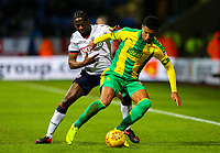 Bolton Wanderers' Clayton Donaldson vies for possession with West Bromwich Albion's Mason Holgate<br /> <br /> Photographer Alex Dodd/CameraSport<br /> <br /> The EFL Sky Bet Championship - Bolton Wanderers v West Bromwich Albion - Monday 21st January 2019 - University of Bolton Stadium - Bolton<br /> <br /> World Copyright © 2019 CameraSport. All rights reserved. 43 Linden Ave. Countesthorpe. Leicester. England. LE8 5PG - Tel: +44 (0) 116 277 4147 - admin@camerasport.com - www.camerasport.com