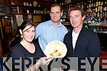 TRAIL: Sorcha Durha, Donal Moran and Thomas Ashe, Dingle at Adams Pub for the Tasty Trail at the Dingle food fair on Saturday.