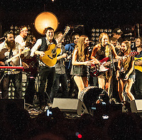 Mumford and Sons perform at The Promenade in Portland, Maine. August 4, 2012. © Rocco S. Coviello/MediaPunch Inc.