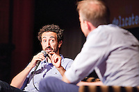 Amsterdam, 7 juni 2016<br /> IDFA Special<br /> Vertoning Weiner<br /> regisseur Josh Kriegman (links) met Eelco Bosch van Rosenthal.<br /> Foto Felix Kalkman