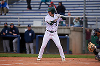 Beloit Snappers pinch hitter Noah Vaughan (16) during a Midwest League game against the Lake County Captains at Pohlman Field on May 6, 2019 in Beloit, Wisconsin. Lake County defeated Beloit 9-1. (Zachary Lucy/Four Seam Images)